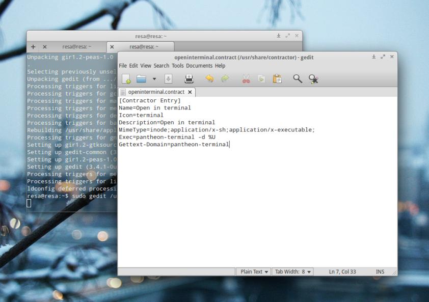 Open in Terminal pada Elementary OS