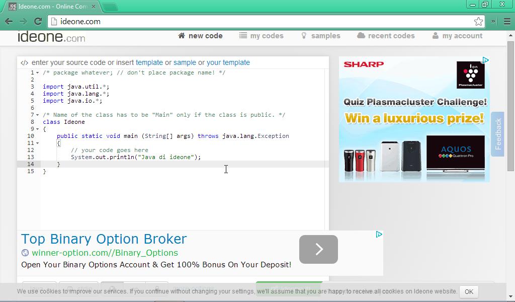 Coding Java Online Dengan Ideone Mari Berbagi