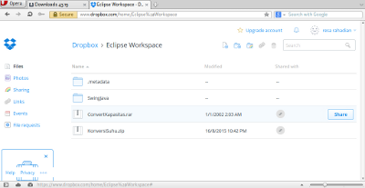 Screenshot-Eclipse Workspace - Dropbox - Opera