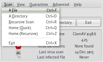 Screenshot-ClamTk Virus Scanner