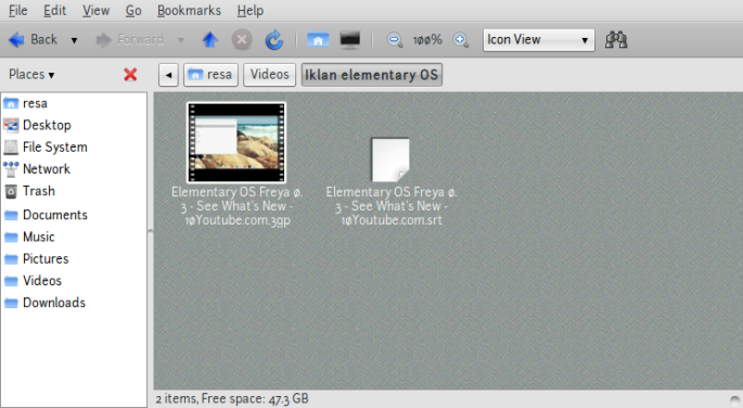 Screenshot-Iklan elementary OS - File Browser