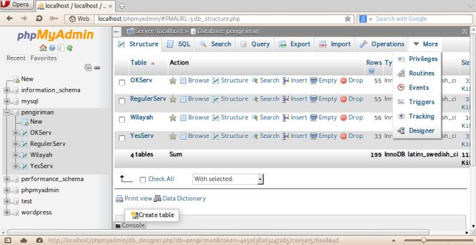 Screenshot-localhost - localhost - pengiriman | phpMyAdmin 4.4.14 - Opera