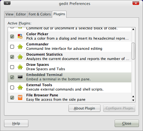 Screenshot-gedit Preferences