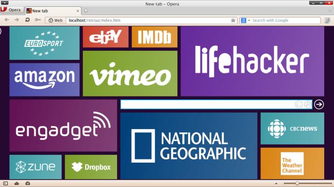 Screenshot-New tab - Opera