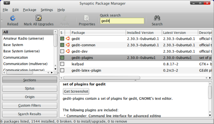Screenshot-Synaptic Package Manager