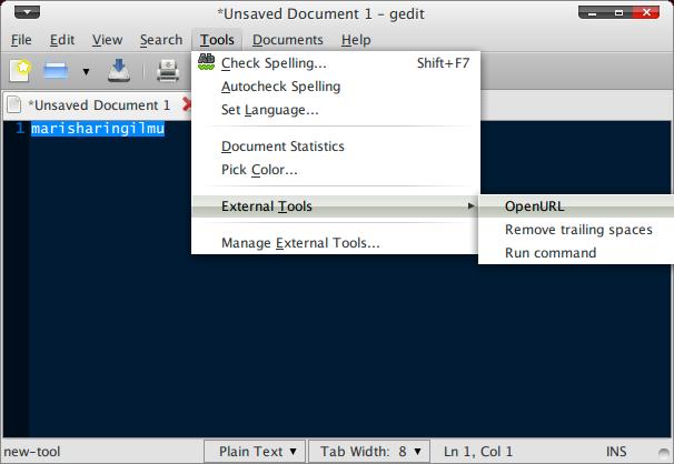 Screenshot-*Unsaved Document 1 - gedit