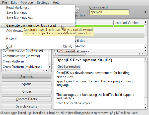 screenshot-synaptic-package-manager