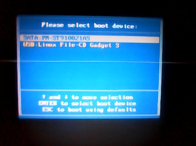 how to install Linux Distro from external storage